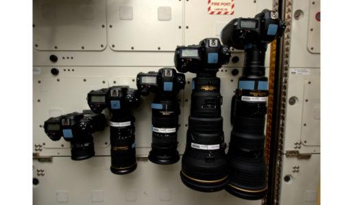 macchine fotografiche usate sulla ISS